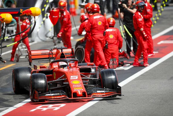 Sebastian Vettel sicherte sich nach einem späten Wechsel auf Soft die schnellste Rennrunde in Frankreich - Foto: LAT Images