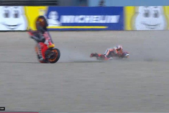 Jorge Lorenzo crashte im MotoGP-FP1 von Assen - Foto: MotoGP.com/Screenshot