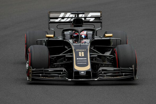 Romain Grosjean ist in Ungarn noch immer mit dem Australien-Auto von Haas unterwegs - Foto: LAT Images