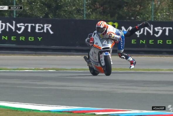 Steven Odendaal legt einen wilden Ritt hin - Foto: MotoGP/Twitter