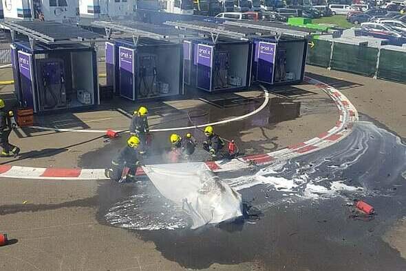 Im MotoE-Fahrerlager in Spielberg kam es erneut zu einem Brand - Foto: Motorsport-Magazin.com