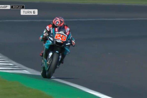 Die leidige Frage: Bis wo reicht die Rennstrecke? - Foto: MotoGP.com/Screenshot