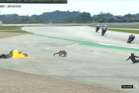 Quartararo räumt Dovizioso ab - Foto: MotoGP/Twitter
