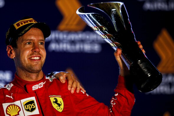 Sebastian Vettel war von der Ferrari-Strategie, die ihm zum Sieg verhalf, überrascht - Foto: LAT Images