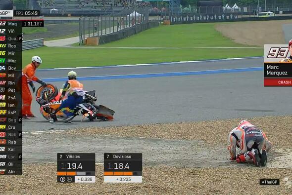 Marc Marquez schockt seine Fans in Thailand - Foto: MotoGP/Twitter