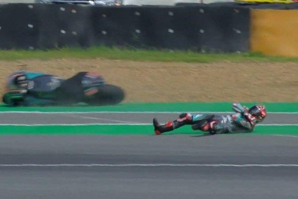 Fabio Quartararo beendete den Sturzreigen in Buriram - Foto: Screenshot/MotoGP