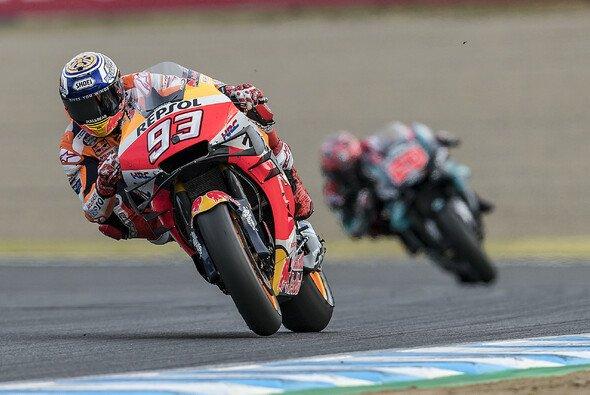 Ernsthaft fordern konnte Quartararo Marquez nur in der Startrunde - Foto: Repsol