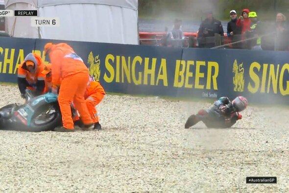 Fabio Quartararo entging einer Verletzung, lässt das 2. Training aber aus - Foto: LAT Images