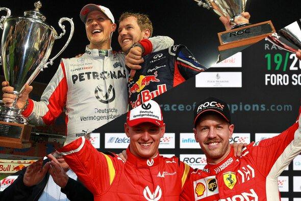 Sebastian Vettel ist für Mick Schumacher der Mentor, der Vater Michael einst für Vettel war - Foto: LAT Images