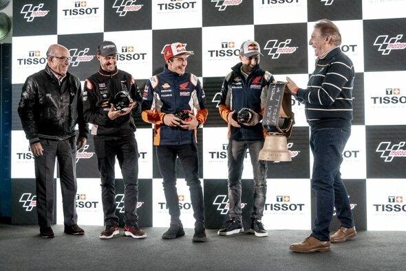 Tom Lüthi, Marc Marquez und Jorge Lorenzo präsentierten die neuen Modelle - Foto: Tissot