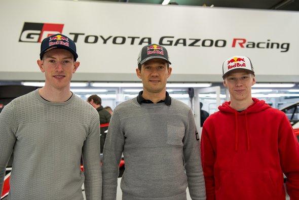 Das Fahreraufgebot von Toyota 2020: Elfyn Evans, Sebastien Ogier und Kalle Rovanperä - Foto: Toyota WRT