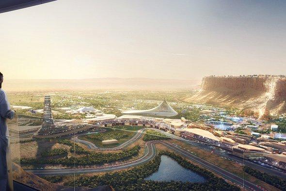 Die ersten Bilder respektive Skizzen des geplanten Projekts Qiddiyah muten bombastisch an - Foto: Qiddiyah