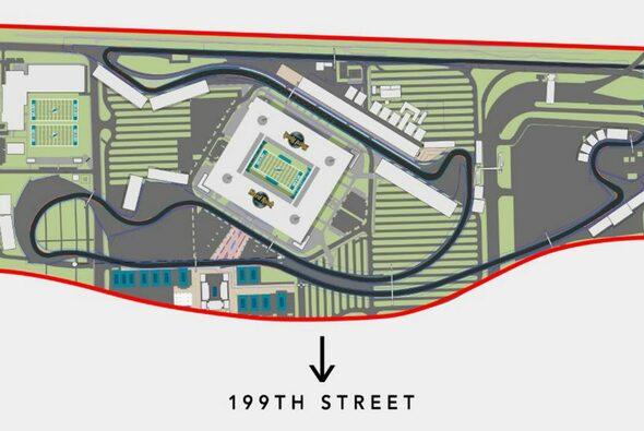 Das angepasste Layout der geplanten Strecke in Miami (vorheriges Layout s.u.) - Foto: F1 Miami Grand Prix