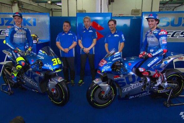 Alex Rins und Joan Mir gehen 2020 in Blau-Silber an den Start - Foto: MotoGP.com/Screenshot