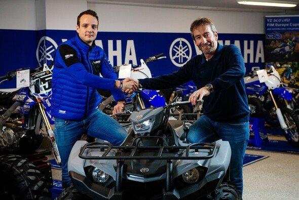 Sebastian Klein und Dieter Porsch freuen sich über die ausgebaute Partnerschaft zwischen Yamaha und den ADAC MX Masters - Foto: ADAC Motorsport