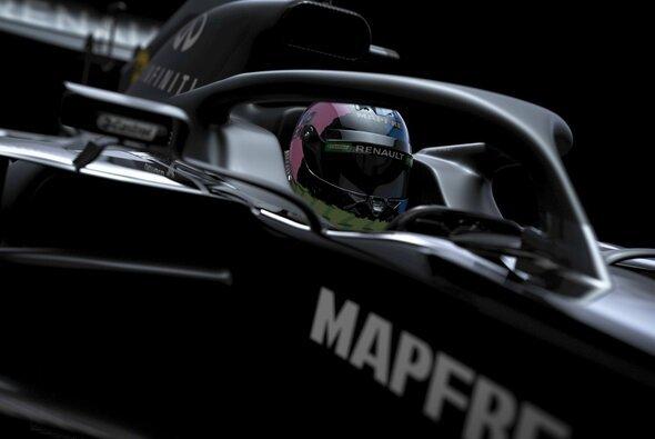 Renault traute sich bei der Präsentation 2020 lediglich mit Renderings in einer Testlackierung aus der Deckung - Foto: Renault F1 Team