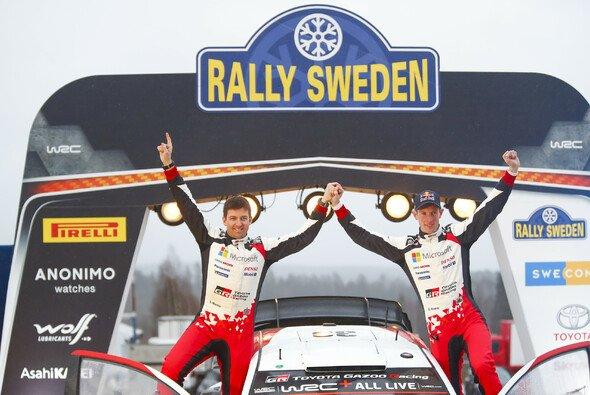 Elfyn Evans gewann als erster Brite die Rallye Schweden - Foto: Toyota