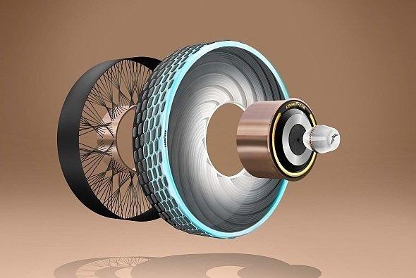Der Konzeptreifen Goodyear reCharge, ein Reifen, der sich selbst regeneriert - Foto: Goodyear Dunlop Tires