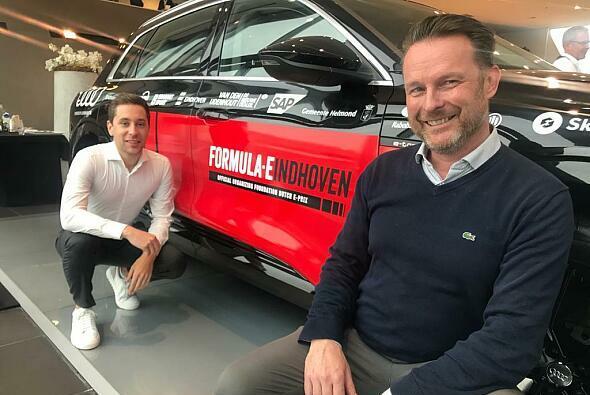 Formel-E-Rennen in Eindhoven? Robin Frijns und Projektinitiator Peter-Paul Laumans - Foto: Rene de Boer/Rebocar