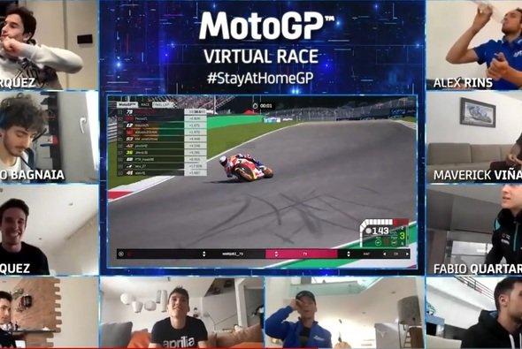 Alex Marquez holte sich den Sieg - Foto: Screenshot/MotoGP