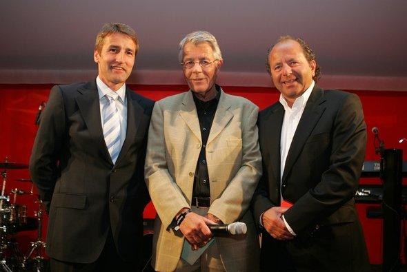 Rainer Braun mit den Rennfahrer-Ikonen Bernd Schneider und Klaus Ludwig - Foto: Ludwig Haupt