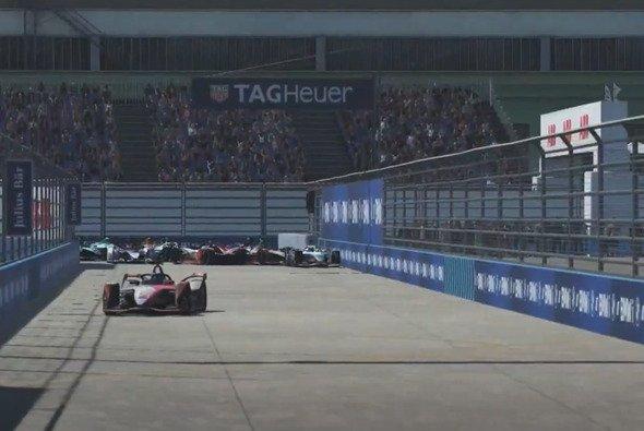 Die entscheidende Situation: Wehrlein wird gedreht und verliert die Meisterschaft - Foto: Formula E