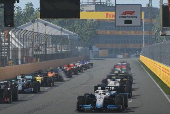 Dominanz pur: George Russell hat beim 8. virtuellen Grand Prix das Feld im Griff - Foto: LAT Images