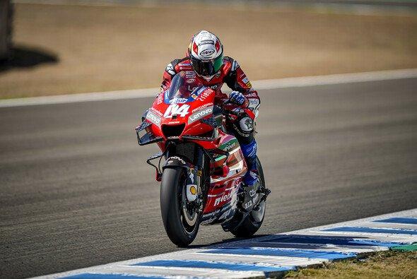 Andrea Dovizioso gab am Mittwoch schon wieder Vollgas - Foto: Ducati