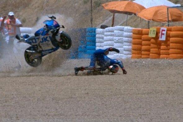 Alex Rins hat im Qualifying in Jerez viel Pech - Foto: Screenshot/MotoGP