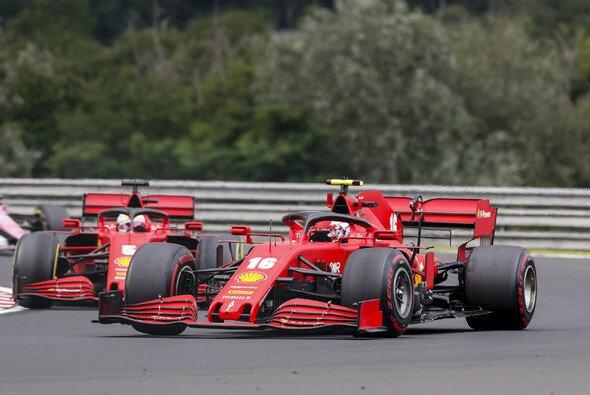 Charles Leclerc hielt Sebastian Vettel in Ungarn auf - Foto: LAT Images