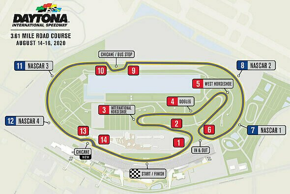 Streckenlayout: The Daytona Road Course - Foto: NASCAR