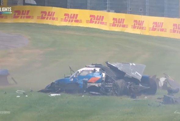 Thomas Laurent hatte einen bösen Crash in Blanchimont - Foto: WEC YouTube/Screenshot