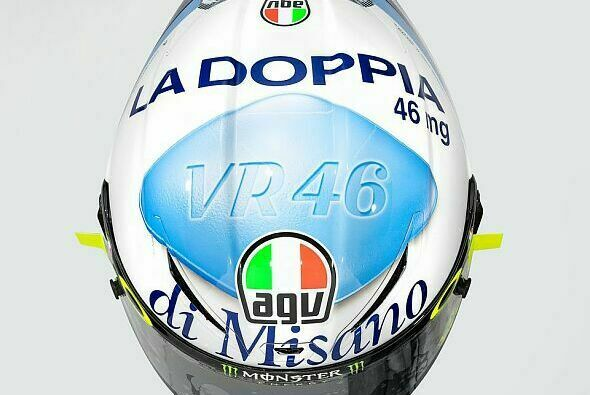 Valentino Rossis Helm für Misano 2020 - Foto: AGV