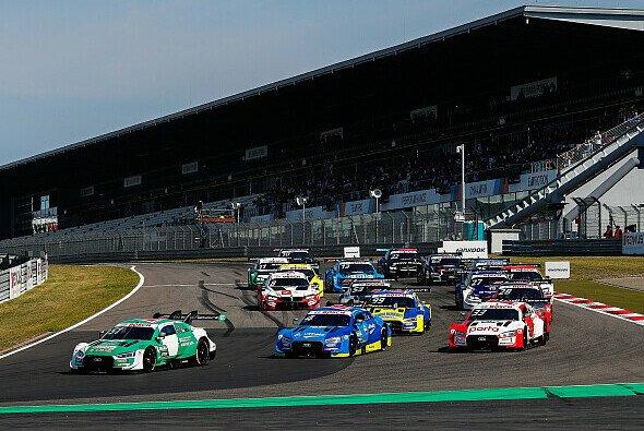 Die Titelanwärter der DTM-Saison 2020: Nico Müller, Robin Frijns und Rene Rast - Foto: Audi Communications Motorsport