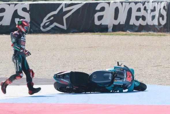 Fabio Quartararos Rennen war nach acht Runden gelaufen - Foto: LAT Images