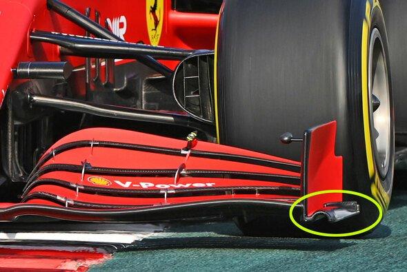 Ferrari hat in Sotschi überarbeitete Frontflügel- und Heckflügel-Endplatten dabei - Foto: LAT Images