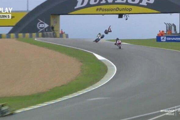 Luca Marini flog in Le Mans übel ab - Foto: MotoGP/Twitter