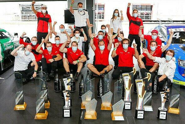 Die erfolgreiche Abt-Mannschaft in der DTM-Saison 2020 - Foto: Audi Communications Motorsport
