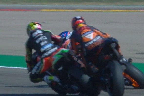 Die Espargaros krachten am Samstag ineinander - Foto: MotoGP/Screenshot