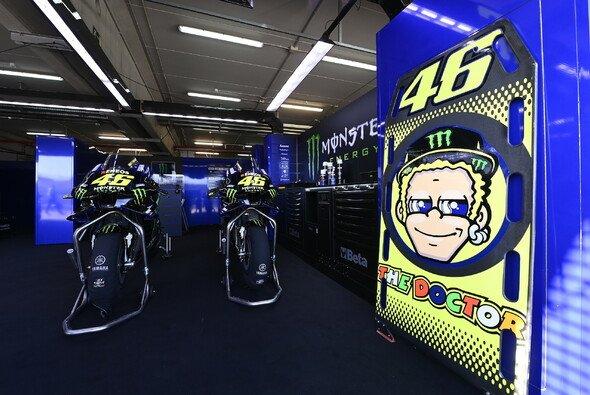 Valentino Rossis Box bleibt auch im zweiten Aragon-GP leer - Foto: LAT Images