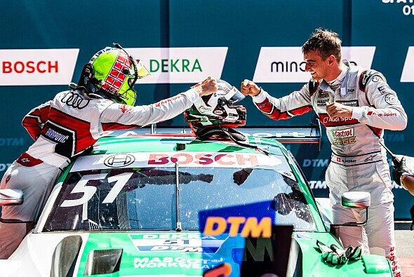 Beim Saisonauftakt in Spa herrschte noch gute Stimmung zwischen Jamie Green und Nico Müller - Foto: Audi Communications Motorsport