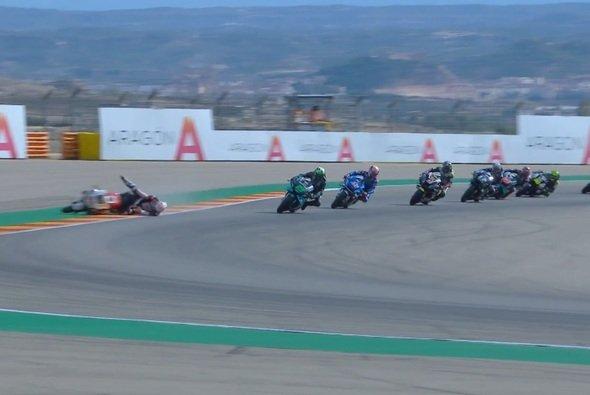 Takaaki Nakagami kam schon in Runde eins zu Sturz - Foto: Screenshot/MotoGP