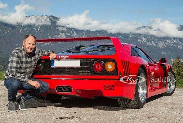 Dieser fantastische Ferrari F40 soll nun doch in Gerhard Bergers Garage bleiben - Foto: RM Sothebys
