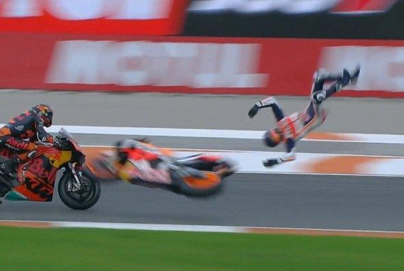 Alex Marquez schlug hart am Asphalt auf - Foto: Screenshot/MotoGP