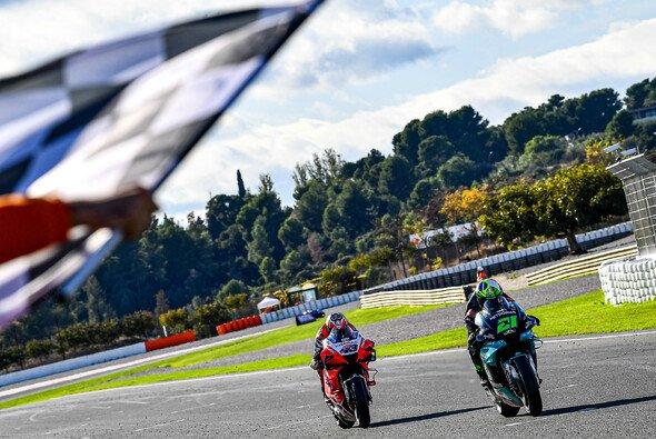 Wenige als eine Zehntelsekunde trennte Morbidelli und Miller am Ende - Foto: MotoGP.com