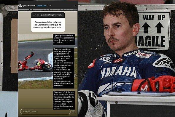 Jorge Lorenzo schießt wieder gegen Cal Crutchlow - Foto: LAT Images/Motorsport-Magazin.com