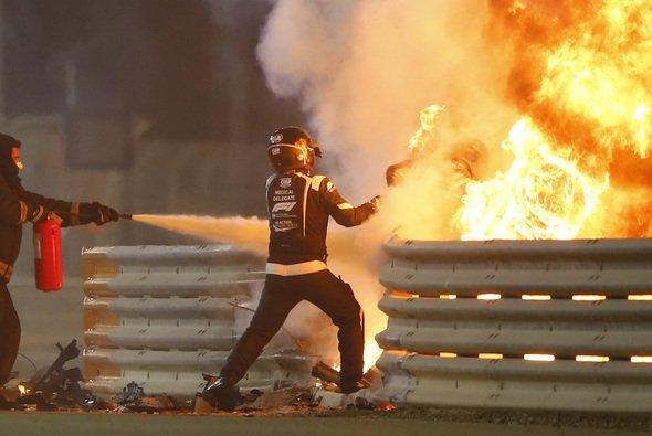 Romain Grosjeans Unfall schockte die Formel 1 - Foto: LAT Images