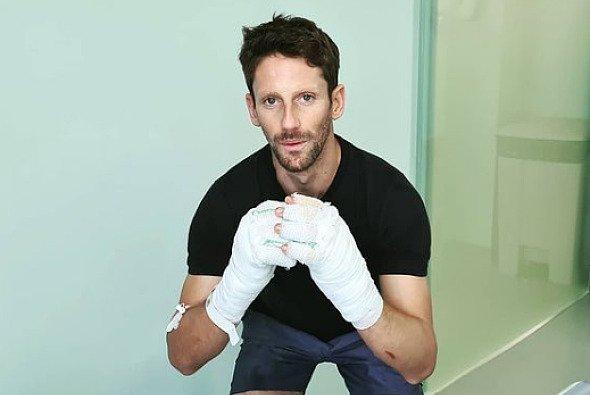 Romain Grosjean will in Abu Dhabi unbedingt zurück ins Auto - Foto: Screenshot Romain Grosjean/Instagram