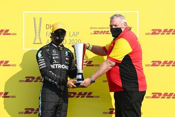 WM-Titelverteidiger Lewis Hamilton gewinnt erneut den DHL Fastest Lap Award - Foto: LAT Images