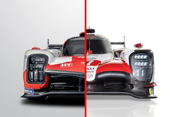 Links der neue Toyota GR010, rechts der Vorgänger TS050 - Foto: Toyota/Motorsport-Magazin.com